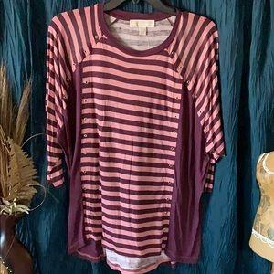 Ladies wine/pink Medium Michael Kors shirt